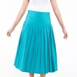 Emerald Pleated Long Skirt 1