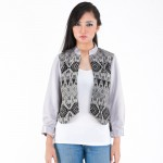 Night Songket Puff Blazer 1